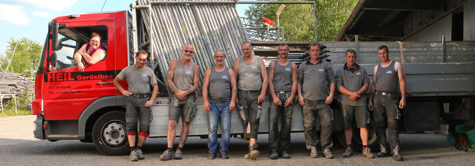 Heil-Gerüstbau Teamfoto
